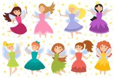 Vetor adorável dos caráteres da princesa feericamente Fotos de Stock