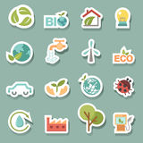 Vetor ajustado ícones de Eco Fotografia de Stock Royalty Free