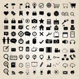 Vetor ajustado ícones do design web Imagens de Stock Royalty Free