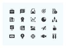 Vetor ajustado ícones do negócio Projeto da silhueta ilustração royalty free