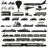 Vetor ajustado ícones do transporte Imagem de Stock Royalty Free