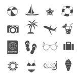 Vetor ajustado ícones do verão Imagens de Stock Royalty Free