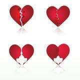 Vetor ajustado: corações Foto de Stock Royalty Free