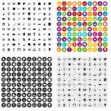 100 vetor ajustado da atividade ícones favoritos variante ilustração do vetor
