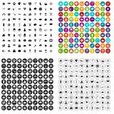 100 vetor ajustado da estrela ícones variante Foto de Stock
