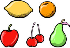 Vetor ajustado da fruta saboroso Fotos de Stock Royalty Free