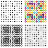 100 vetor ajustado da habilidade do empréstimo ícones variante Fotografia de Stock Royalty Free