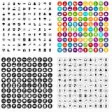 100 vetor ajustado da proteção ambiental ícones variante ilustração do vetor