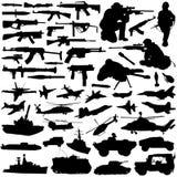 Vetor ajustado das forças armadas Imagem de Stock Royalty Free