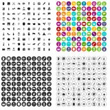 100 vetor ajustado do álcool ícones variante ilustração do vetor