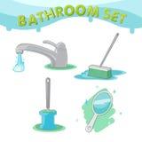 Vetor ajustado do ícone D do símbolo do banheiro Foto de Stock