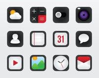 Vetor ajustado do ícone para a relação móvel no fundo branco Foto de Stock Royalty Free