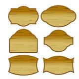 Vetor ajustado do clássico de madeira do vintage da beira Imagens de Stock