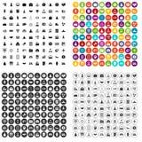 100 vetor ajustado do corporaçõ ícones startup variante ilustração stock