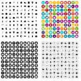 100 vetor ajustado do festival do outono ícones variante ilustração royalty free
