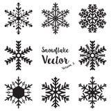 Vetor ajustado do inverno do floco de neve Imagens de Stock Royalty Free