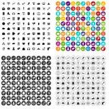 100 vetor ajustado do mercado ícones digitais variante ilustração royalty free