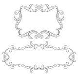 Vetor ajustado do ornamento do rolo do quadro barroco do vintage Imagem de Stock Royalty Free
