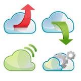 Vetor ajustado do projeto do símbolo do ícone da nuvem Ilustração Stock