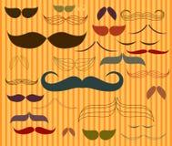 Vetor ajustado do teste padrão do bigode Imagem de Stock