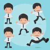 Vetor ajustado dos desenhos animados engraçados felizes do homem Ilustração do Vetor
