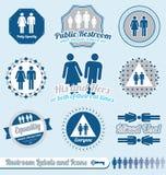 Vetor ajustado: Etiquetas do local de repouso e do banheiro Fotografia de Stock Royalty Free