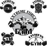 Vetor ajustado: gym Fotos de Stock