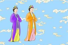 Vetor ajustado para mulheres chinesas ilustração do vetor
