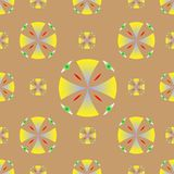 Vetor amarelo do fundo dos círculos da textura sem emenda ilustração do vetor