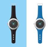 Vetor análogo do relógio de pulso isolado no branco Imagem de Stock Royalty Free