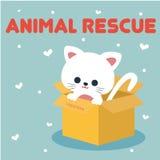 Vetor animal Art Logo da ilustração do salvamento Imagem de Stock