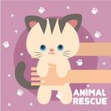 Vetor animal Art Logo da ilustração do salvamento Imagem de Stock Royalty Free