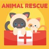 Vetor animal Art Logo da ilustração do salvamento Imagens de Stock Royalty Free