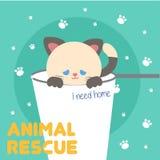 Vetor animal Art Logo da ilustração do salvamento Fotografia de Stock Royalty Free