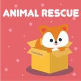 Vetor animal Art Logo da ilustração do salvamento Fotografia de Stock