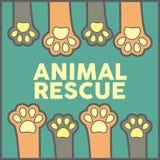 Vetor animal Art Logo da ilustração do salvamento Fotos de Stock