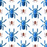 Vetor animal assustador do Dia das Bruxas do horror do perigo do inseto da natureza do projeto do teste padrão sem emenda do medo ilustração royalty free