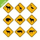 Vetor animal do sinal de tráfego ilustração stock