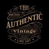 Vetor antigo tirado da tipografia do quadro da etiqueta do vintage mão ocidental ilustração do vetor