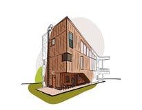 Vetor arquitetónico colorido do esboço Imagem de Stock