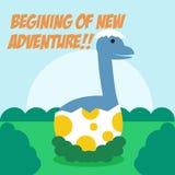 Vetor Art Logo da ilustração da aventura dos dinossauros Fotos de Stock Royalty Free