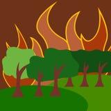 Vetor Art Logo Template da ilustração da catástrofe natural ilustração stock