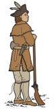 Vetor Art Soldier Scout no vestuário indiano parcial Fotos de Stock Royalty Free