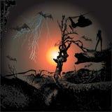 Vetor assustador 2 Ilustração Stock