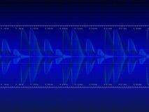 Vetor audio da forma de onda Imagens de Stock Royalty Free