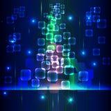Vetor azul abstrato do circuito Foto de Stock Royalty Free
