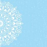 Vetor azul da mandala do fundo Fotos de Stock Royalty Free