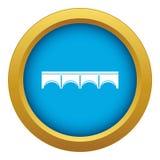 Vetor azul do ícone direto da ponte isolado ilustração royalty free