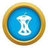 Vetor azul do ícone do núcleo de Apple isolado ilustração do vetor