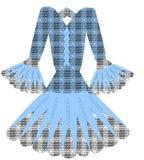 Vetor azul do vestido Imagem de Stock Royalty Free